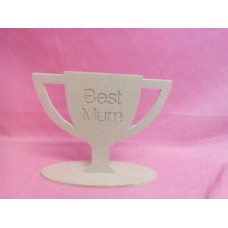 4mm MDF Best Mum Trophy
